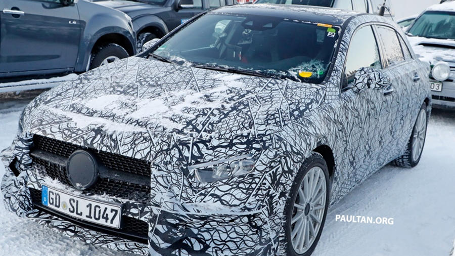 Mercedes A Class Plug-in hybrid (PHEV) spotted