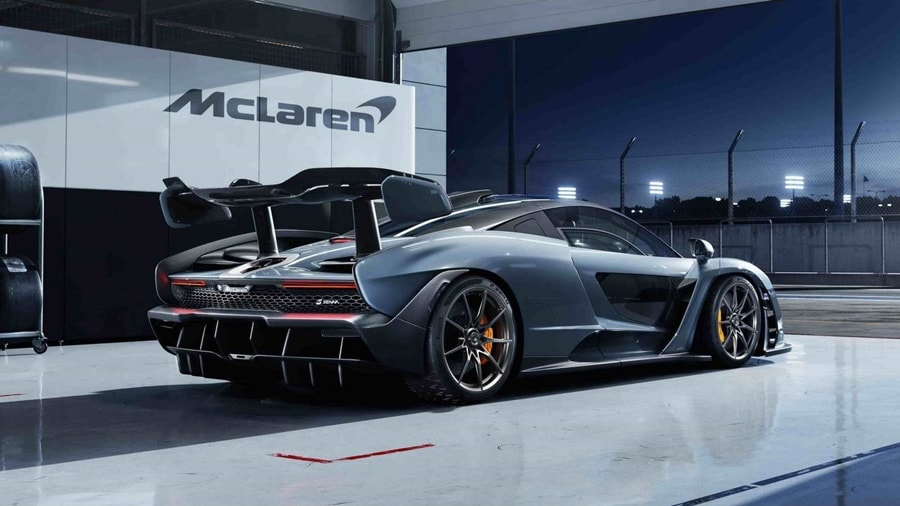 McLaren Senna grey rear