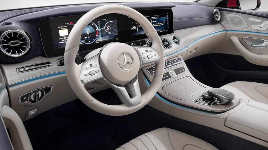 Mercedes Benz CLS beige interior