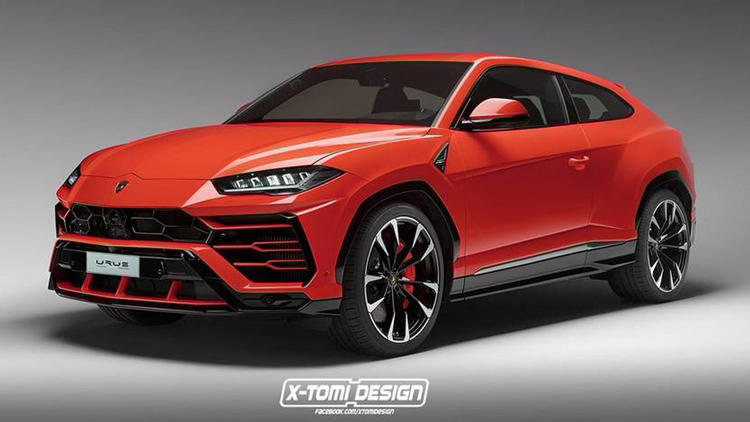 Lamborghini Urus Coupe & Pickup truck rendered