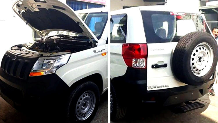 Mahindra TUV300 plus front and rear