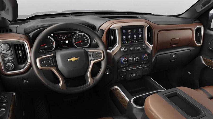 New Chevrolet SIlverado interior