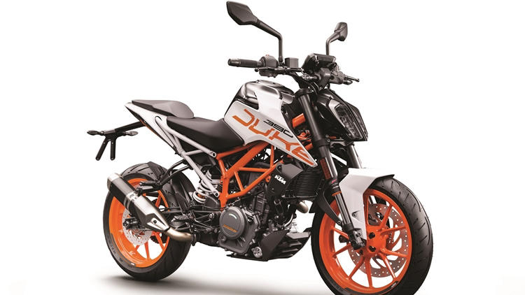 New KTM Duke 390 white