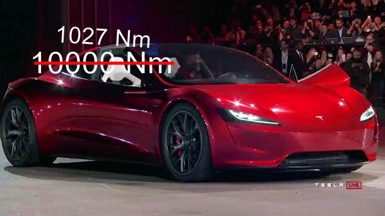 Tesla roadster torque claim