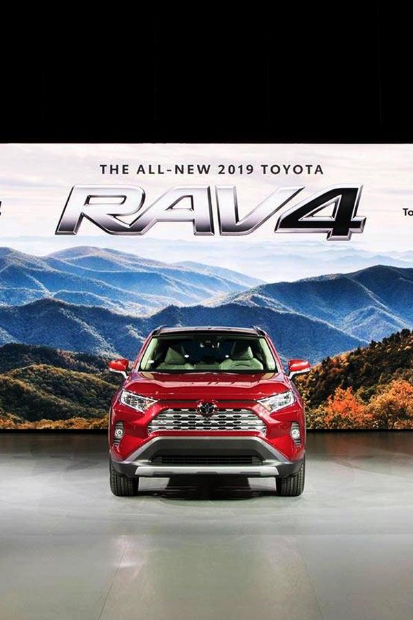 2019 Toyota RAV4 limited red
