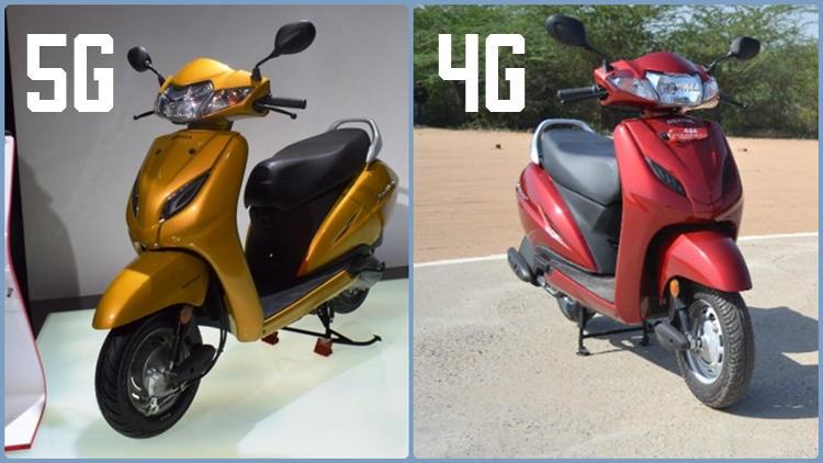 Honda Activa 5G vs Activa 4G
