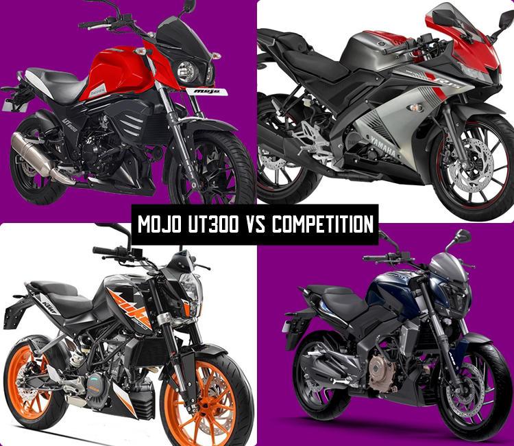 Mahindra Mojo UT300 vs R15 V3 vs Dominar vs Duke