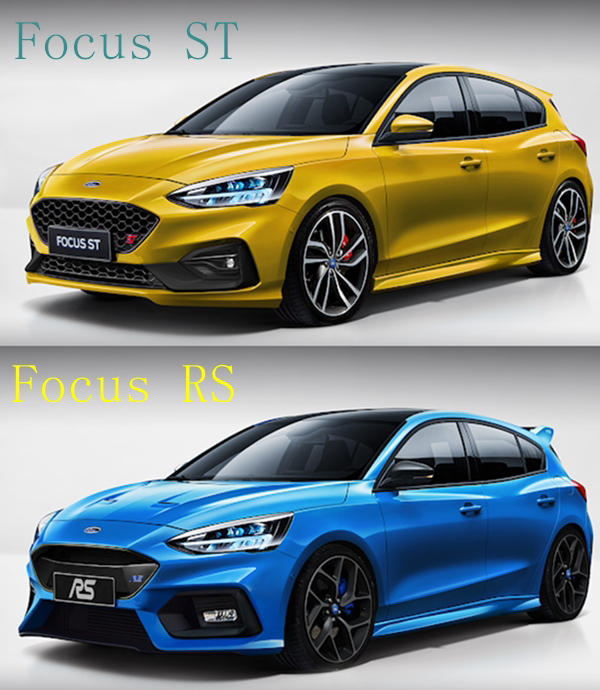 2019 Ford Focus ST and RS