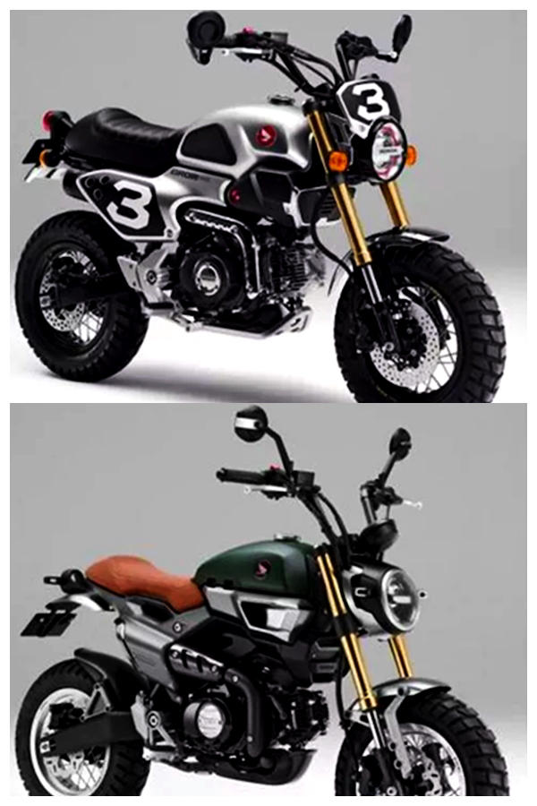 Honda Monkey Scrambler and Cafe Racer