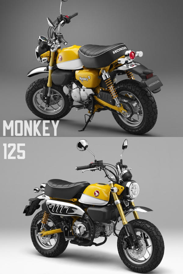 New Honda Monkey 125 Banana Yellow