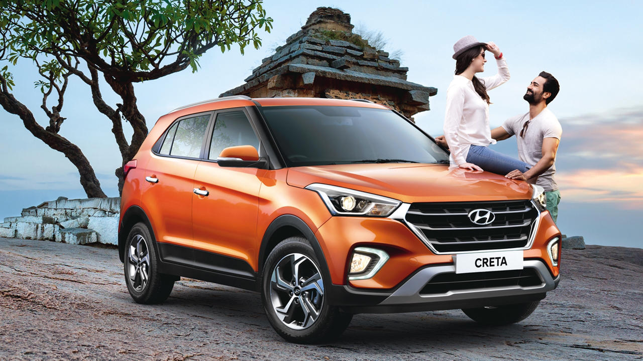 Hyundai Creta 2018 orange
