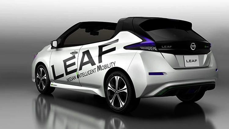 Nissan Leaf Open air convertible rear