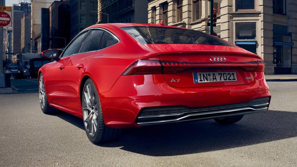 Red Audi A7 2019 rear