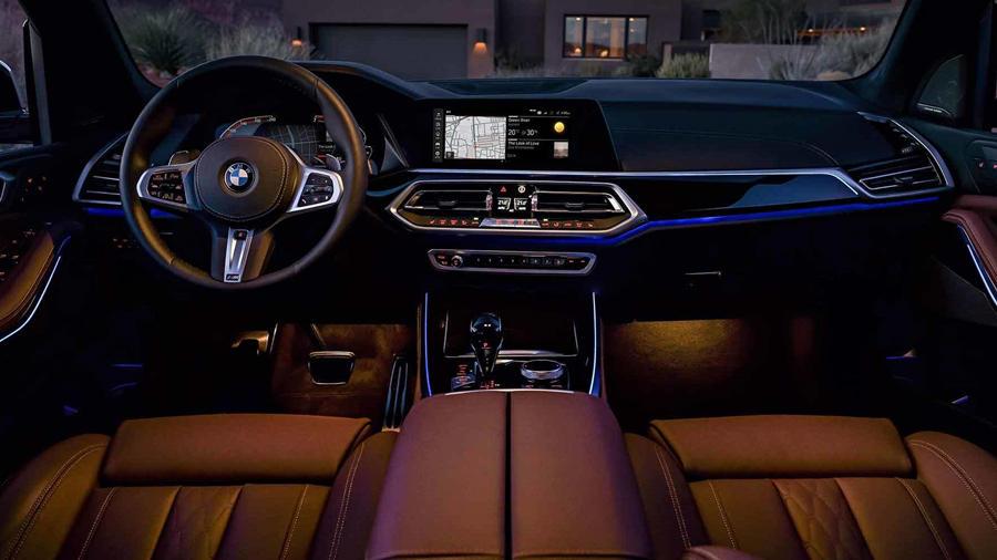 New BMW X5 interior lighting