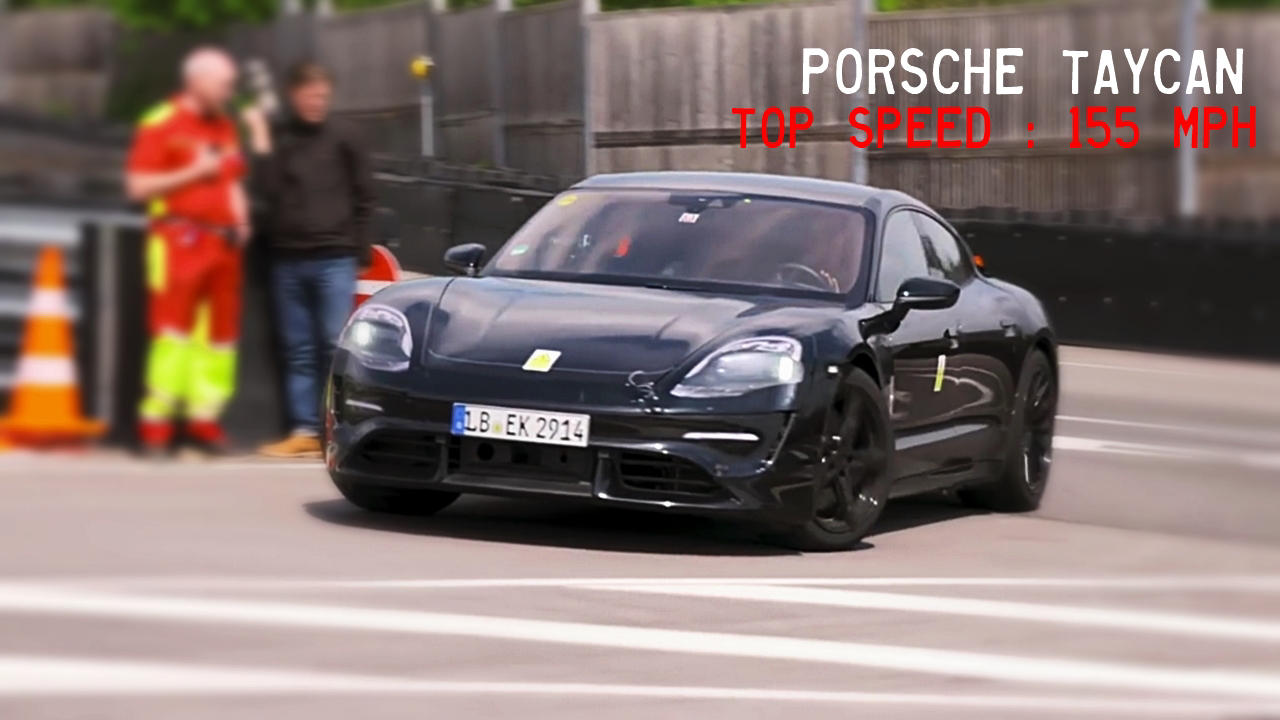 New Porsche Taycan electric