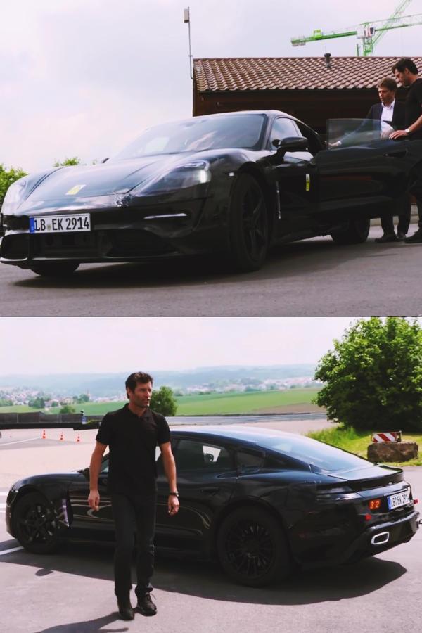 Porshe Taycan EV test ride