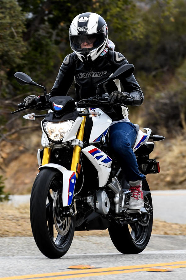 BMW G310R white and blue