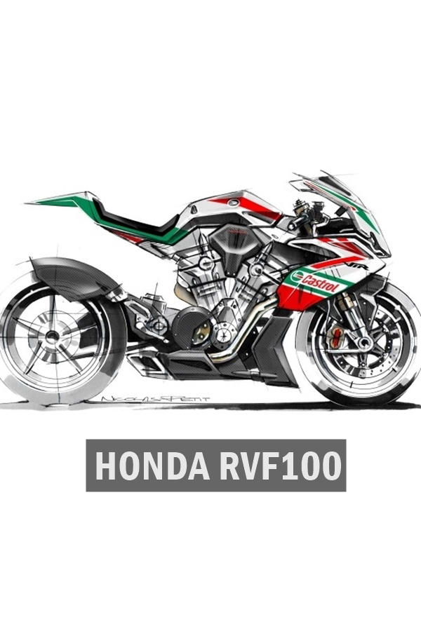 Honda RVF1000 V4 bike for 2019 WSBK