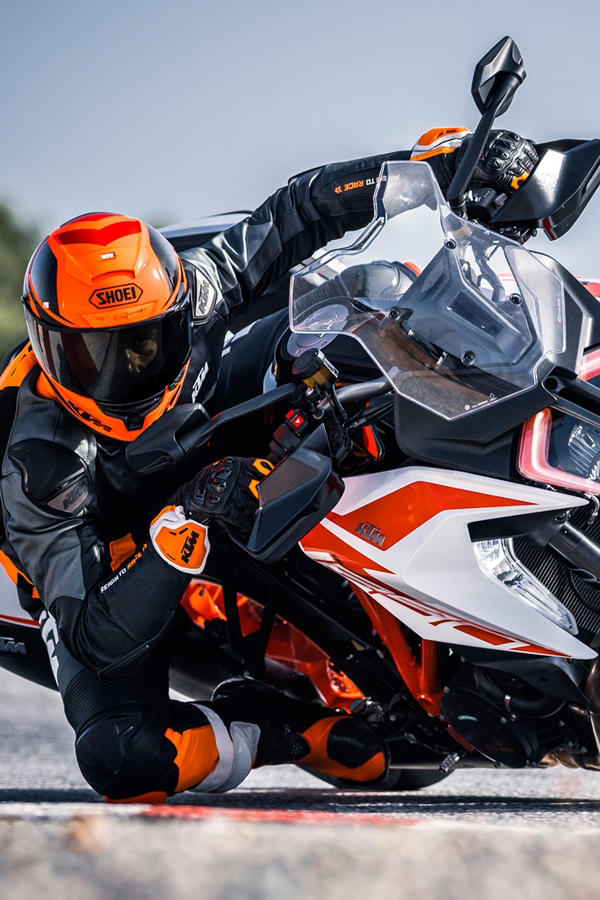 New KTM Super Duke GT white track