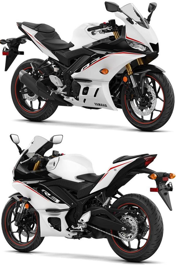 New white Yamaha R3