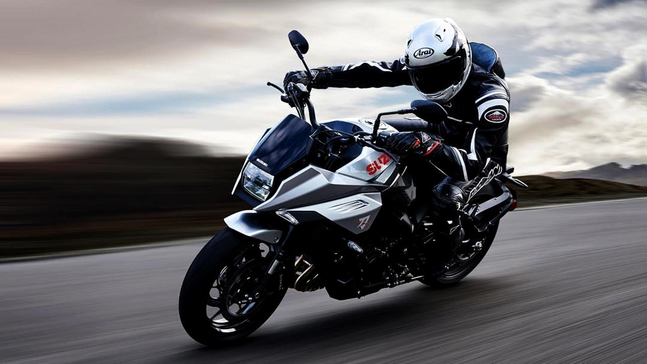 The new Suzuki Katana on tracks
