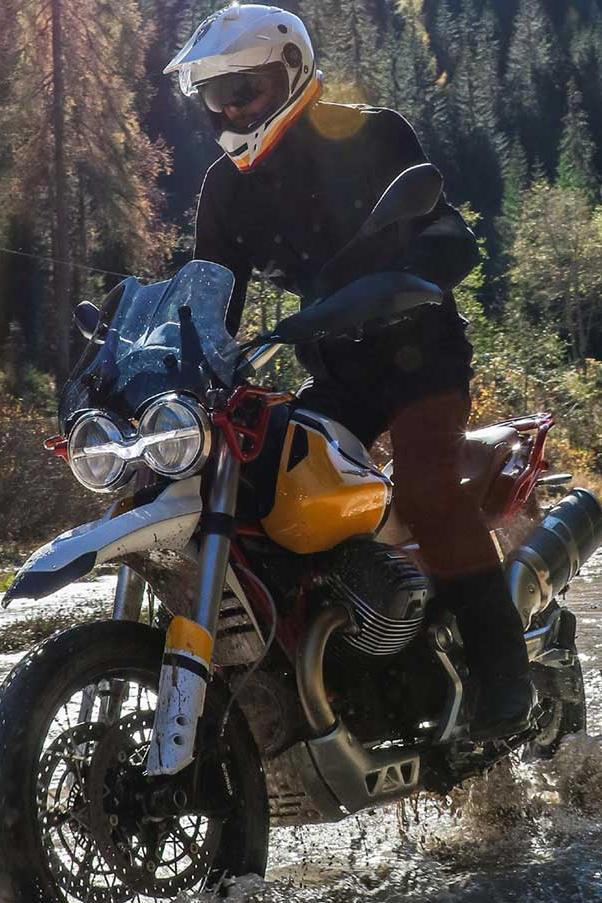 Moto Guzzi V85 TT offroad ride