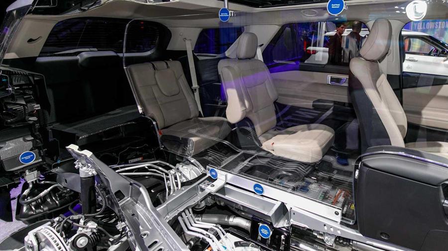 Ford Explorer hybrid interior