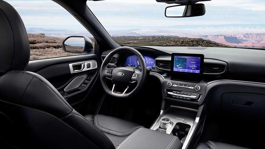 Interior of new Ford Explorer ST