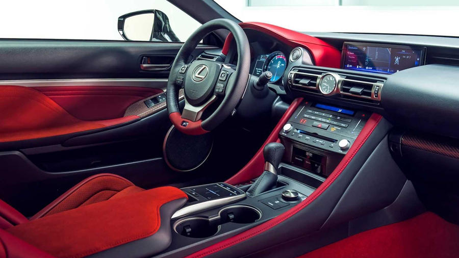 New Lexus LC F interior