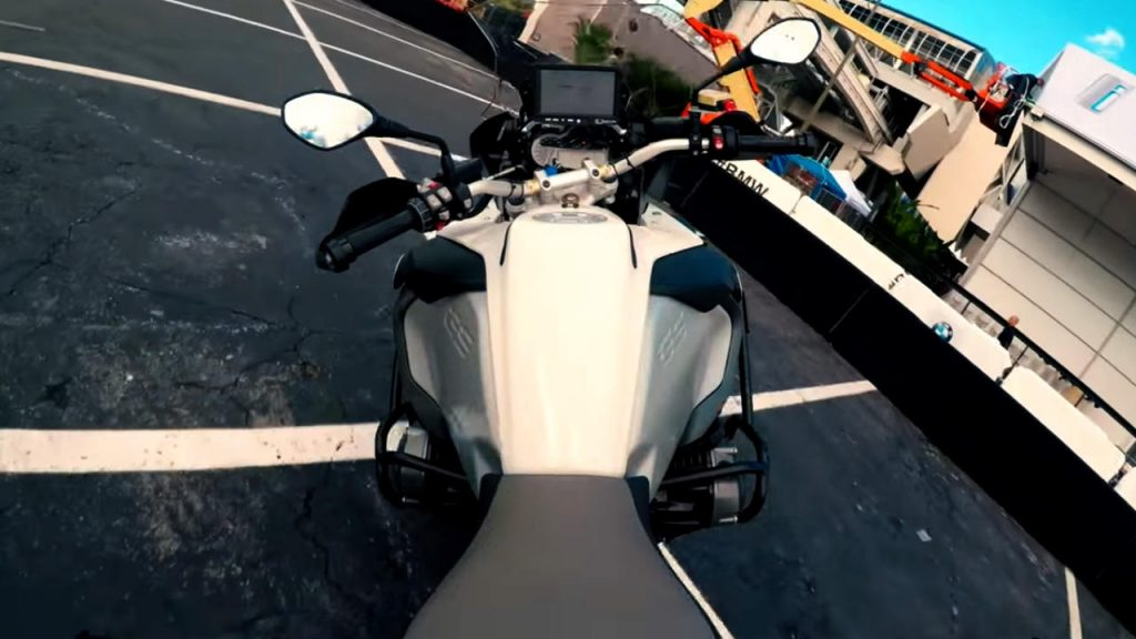 Self driving motorcycle BMW R 1200 GS