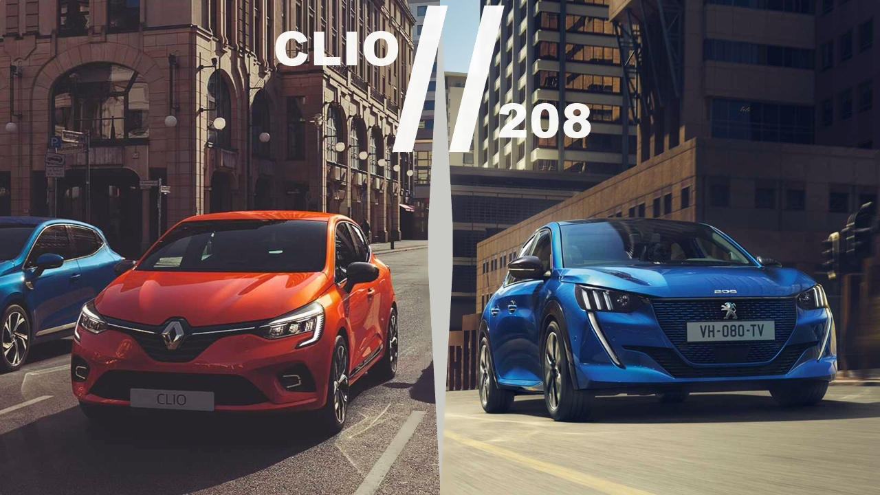 2019 Peugeot 208 and Renault Clio
