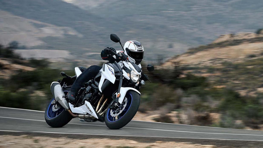 New GSX S750 white ride