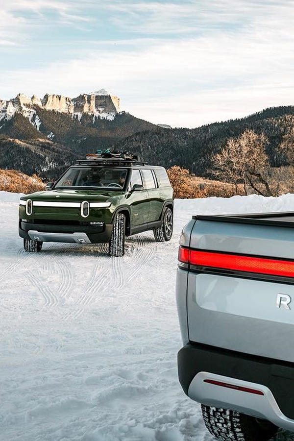 Rivian electric truck and SUV