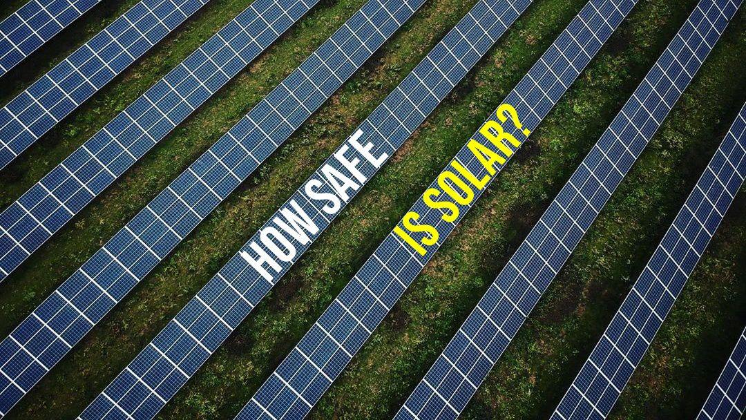 Solar farm field