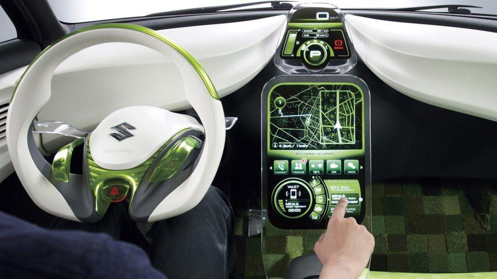 interior of swift futuro electric car suzuki