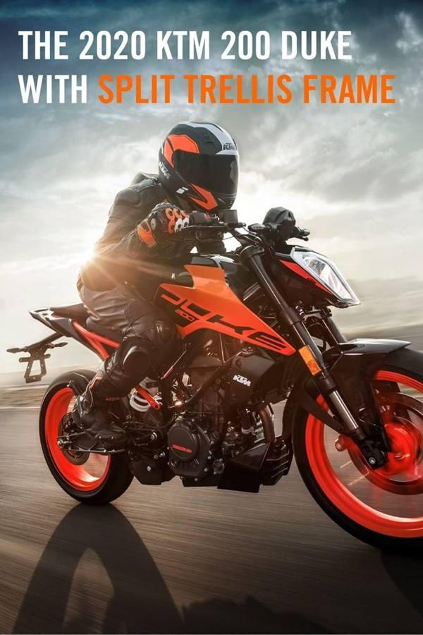 Orange duke 200 ride
