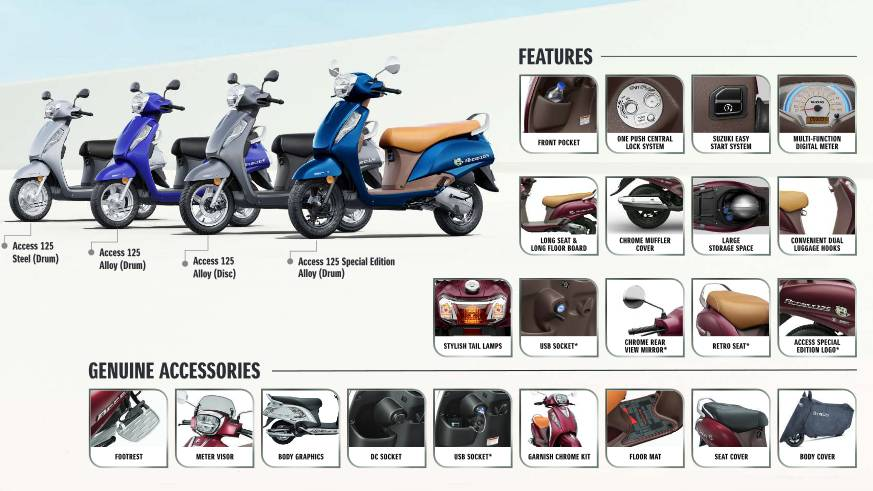 all suzuki access 125 variants
