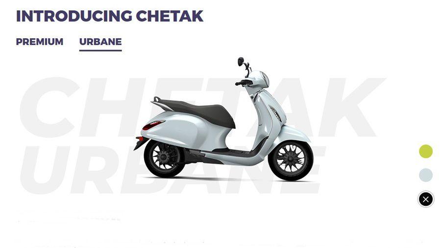 White chetak electric
